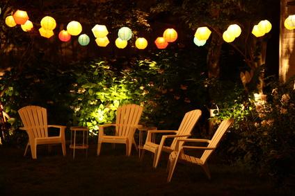 Lampions Im Garten Glas Pendelleuchte Modern