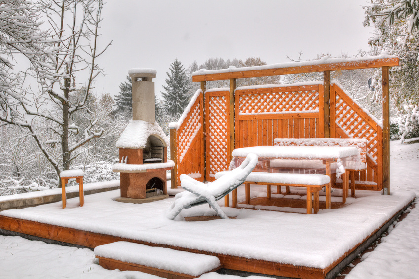 Der Richtige Schutz Für Ihre Gartenmöbel. Gartenmöbel Vor Schnee Schützen