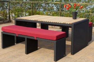 ein outdoor esszimmer einrichten leicht gemacht. Black Bedroom Furniture Sets. Home Design Ideas