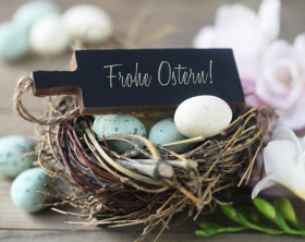 Eier im Osternest