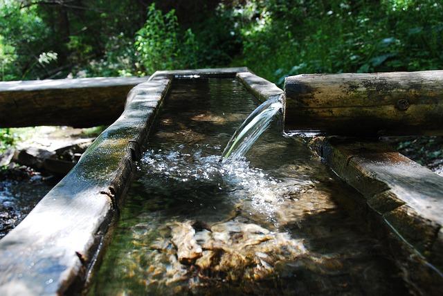 Wasserspiel Holz