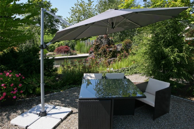 Trendiger Sonnenschutz Mit Ampel Sonnenschirmen