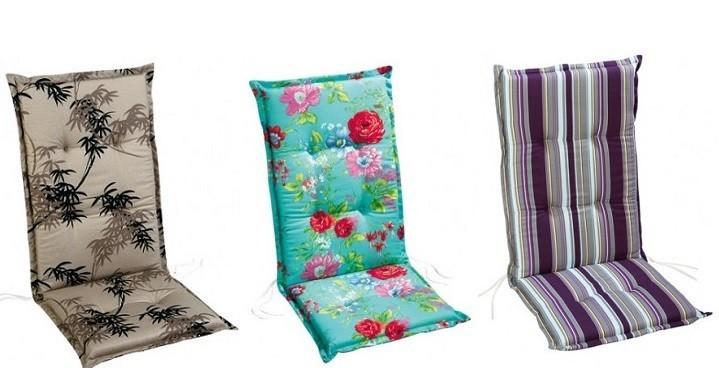 Polsterauflagen für Gartenstühle: Tipps und Dessins