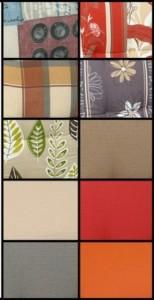 Farbserie mit zehn Dessins für Monoblock-Sitzkissen