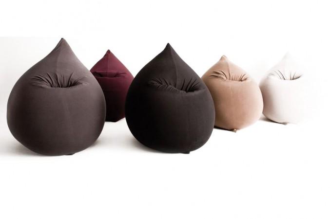 Sitzkissen in neckischer Tropfenform und fünf verschiedenen Farben