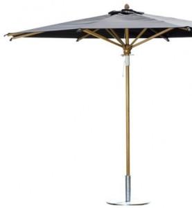 Design Sonnenschirme ein sonnenschirm aus holz stabil mit stil