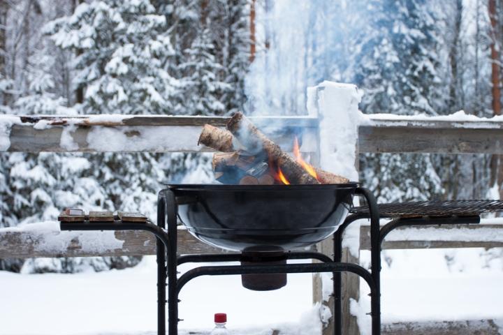 Grillen mit dem Kugelgrill im Winter