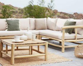 Gartenmöbel Lounge auf Terrasse