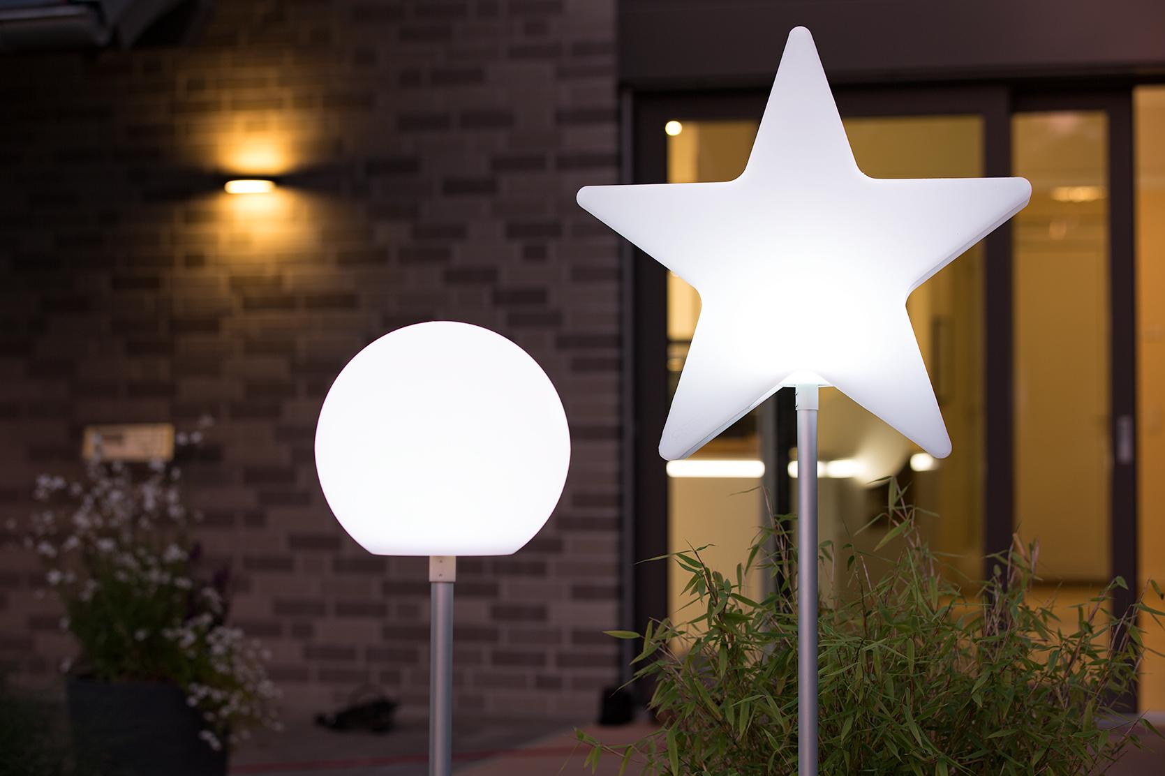 Gartenleuchten Stern