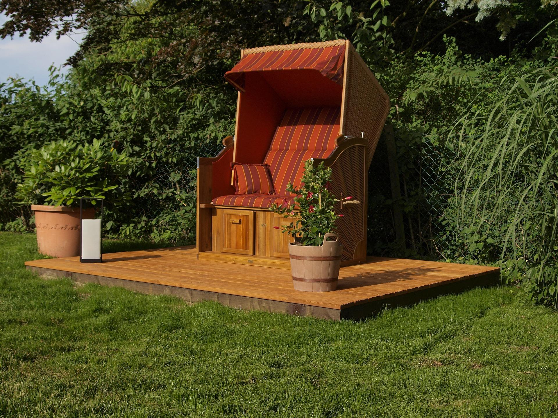 urlaub im eigenen garten mit strandk rben von. Black Bedroom Furniture Sets. Home Design Ideas