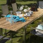 IAMOND GARDEN Levanto Ausziehtisch, Edelstahl/Recycled Teak, 220/320x100cm