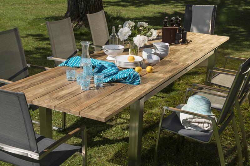 IAMOND GARDEN Levanto Ausziehtisch - Recycled Teak-220-320x100cm-Art-13948-gartenmoebel.de