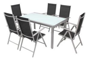 Garten-Sitzgruppe Aluminium und Glas