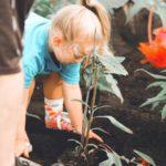Kind gärtnert