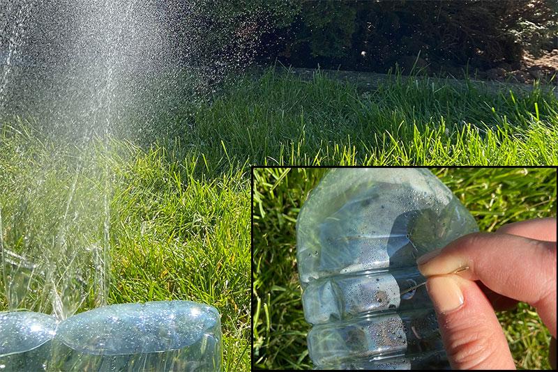 Rasensprenger aus Flasche bauen